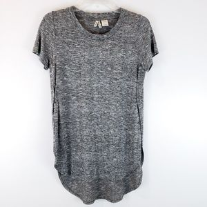 Mudd Tunic Top Grey Knit Size M